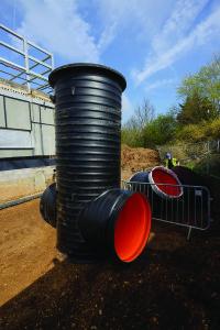 Polypipe Ridgistorm-XL large diameter pipe