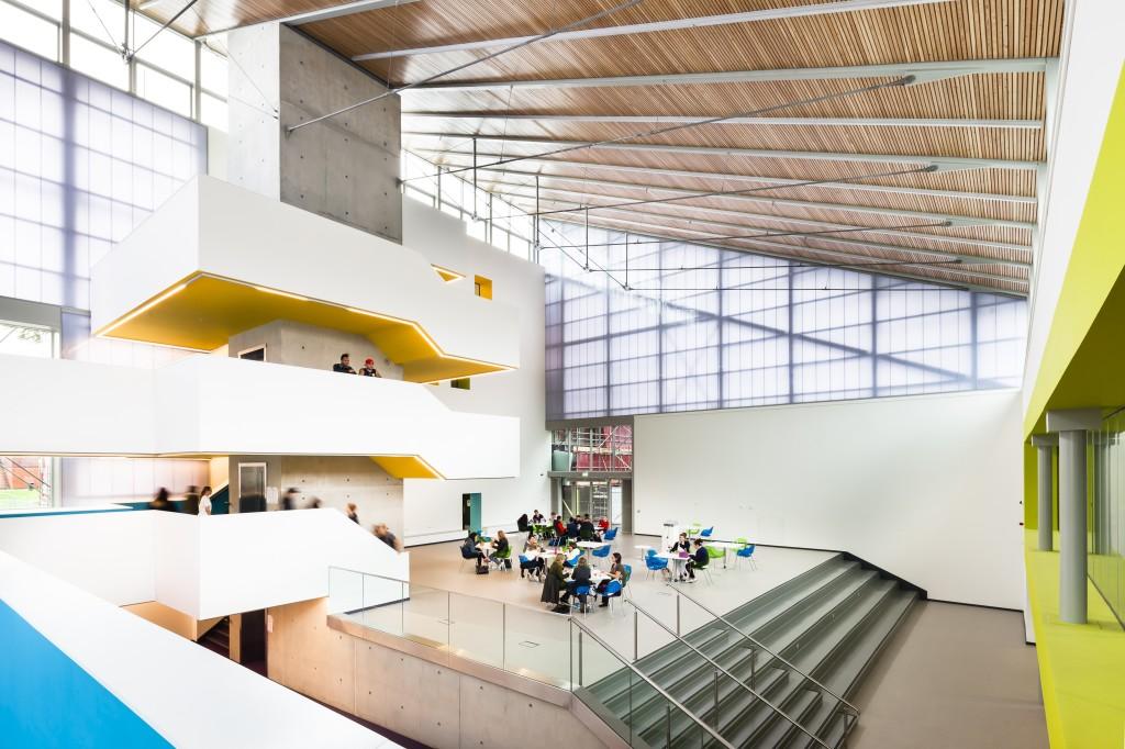 North Hertforshire College designed by Scott Brownrigg, Hitchin, UK