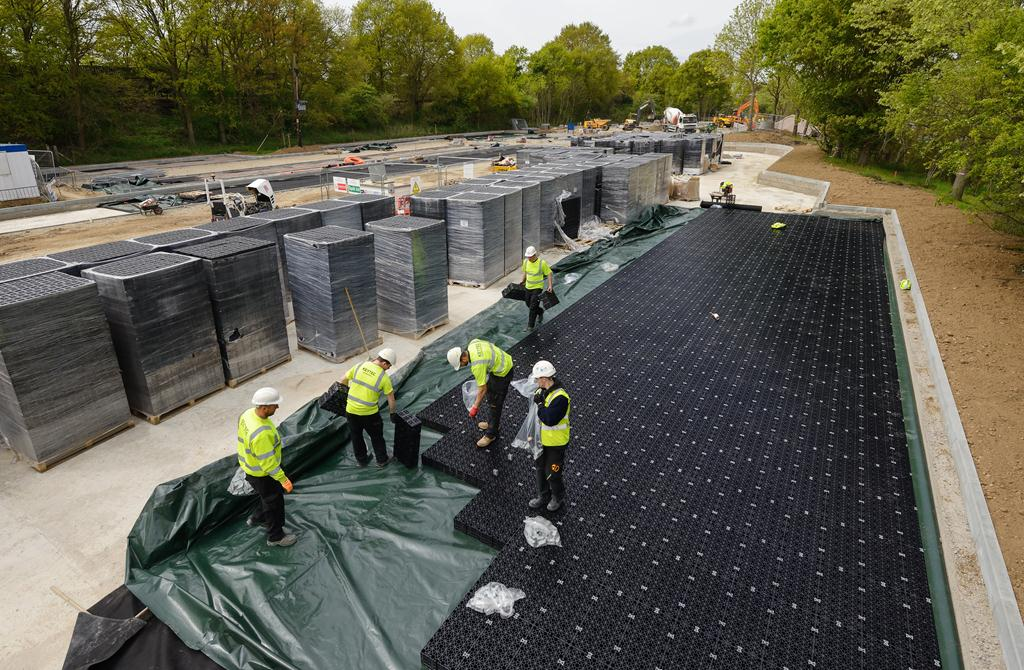Polypipe Provides Sustainable Drainage Solution for Park and Ride Scheme