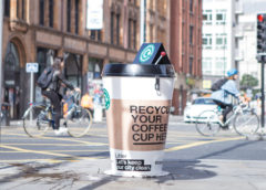 Giant Coffee Cup Bins Offer a Paper Cup Recycling Solution for the First Time in Manchester